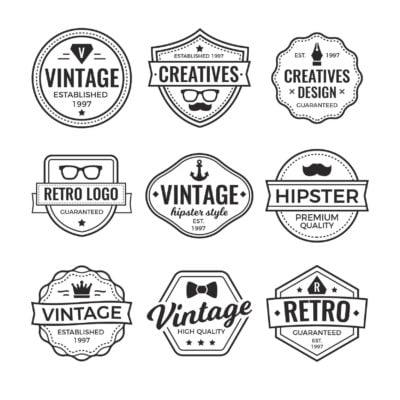 Logos modernos e vintages